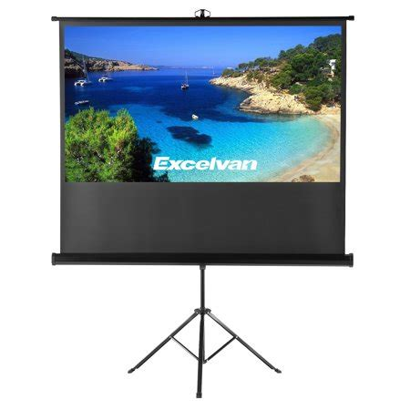 Excelvan Portable Projector Screen with Foldable Stand