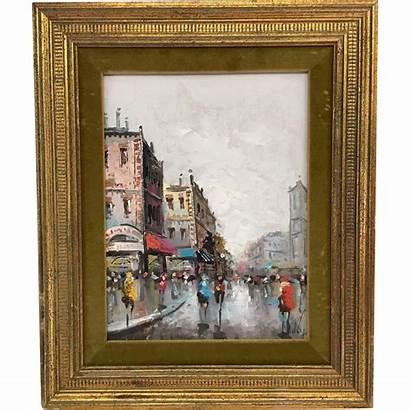 Painting Oil Paris Street Frames Paintings Frame