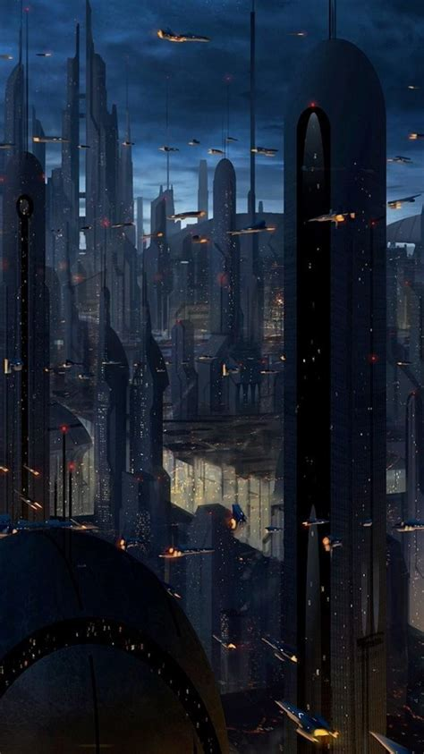 coruscant star wars artwork buildings cityscapes wallpaper