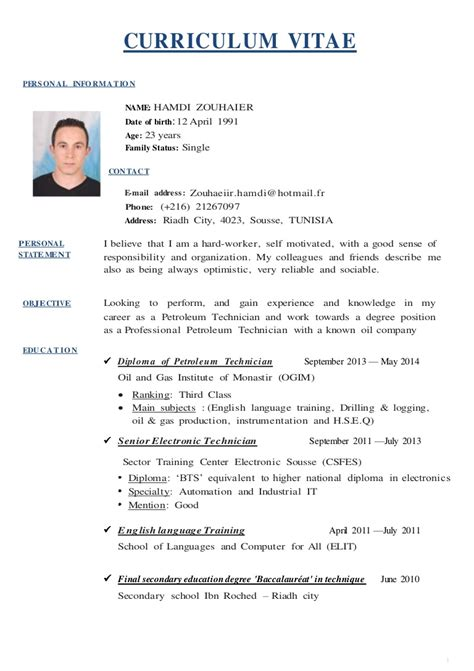 Exemples De Curriculum Vitae by 14 Curriculum Vitae Exle Kitsupport