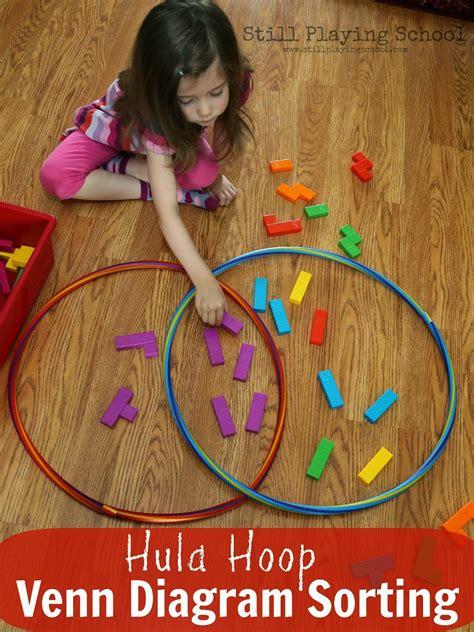 hula hoop activities for still school 490 | hula hoop venn diagram sorting