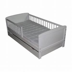 Lit D Enfant Avec Barrière : lit junior blanc 140 cm x 70 cm avec barri res www ~ Premium-room.com Idées de Décoration