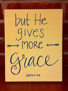 grace upon grace bible verse canvas hand lettering With hand lettering bible