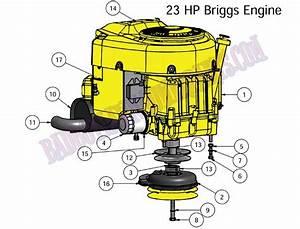 Bad Boy Mower Part  2010 Czt Engine 23hp Briggs