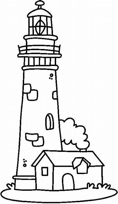 Lighthouse Coloring Pages Lighthouses Clipart Drawings Printable