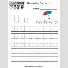 Kindergarten Letter U Writing Practice Worksheet Printable  Projects To Try Pinterest