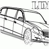 Limousine Coloring Pages Limo sketch template