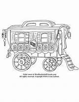 Caravan Coloring Gypsy Wagon Children Pages Corner Reading Childrencoloring Kidsactivities Childrensbooks sketch template