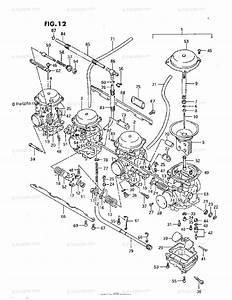 Suzuki Motorcycle 1993 Oem Parts Diagram For Carburetor  J