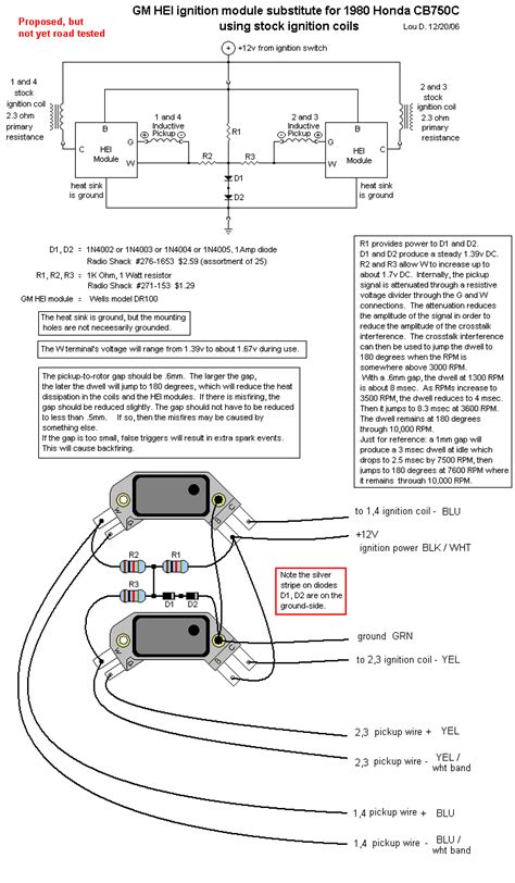 Wiring Diagram General Motor Hei by General Motors Hei Ignition Module For Early 1980 S Honda Cb S