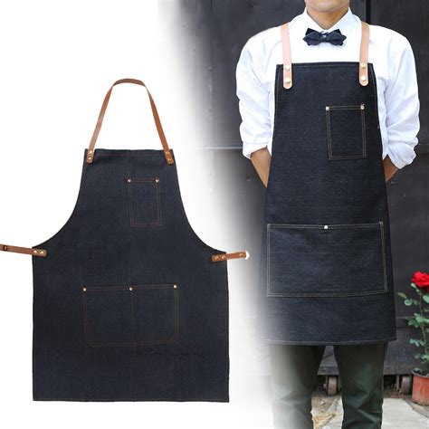 apron work clothes cafe barista pockets soldering barber