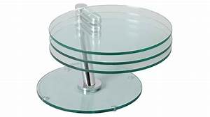 Table Basse En Verre Ronde : table basse ronde articul e 3 plateaux verre table basse design en verre ~ Teatrodelosmanantiales.com Idées de Décoration