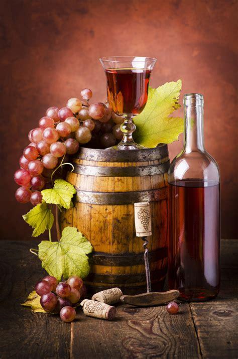 photo wine cask grapes food bottle stemware boards
