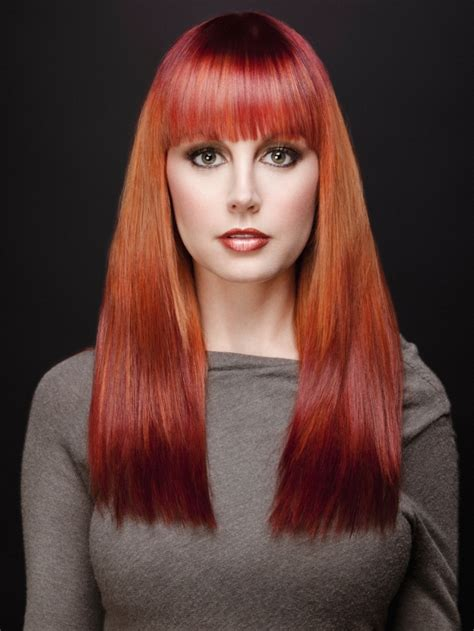 Orange Red Ombre Hair Colors Ideas