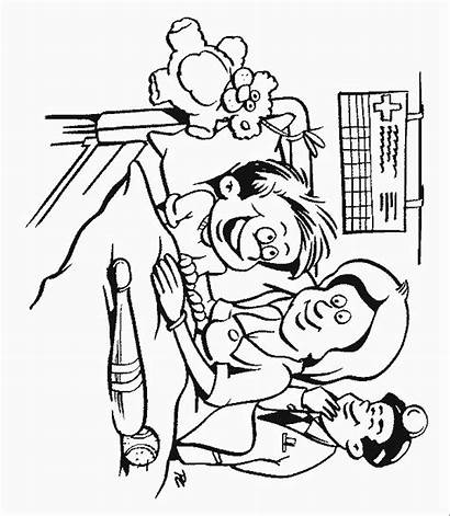 Hospital Coloring Pages Places