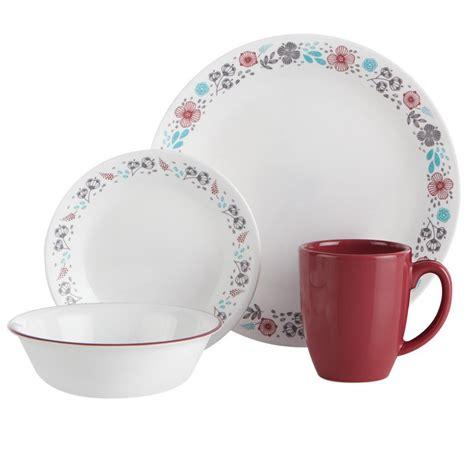 corelle nordic bloom dinnerware walmart canada 16pc dinner