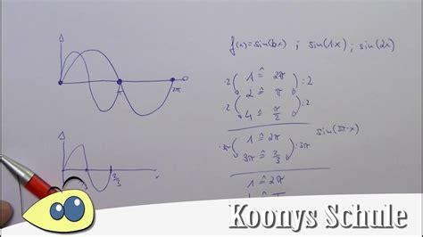 periodenlaenge bestimmen trigonometrische funktionen