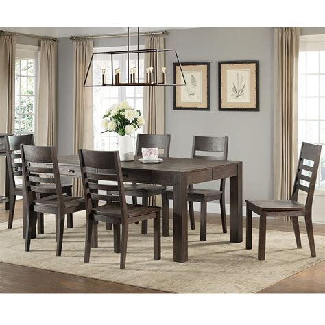Set Salem intercon salem 7 parsons style table and chair set