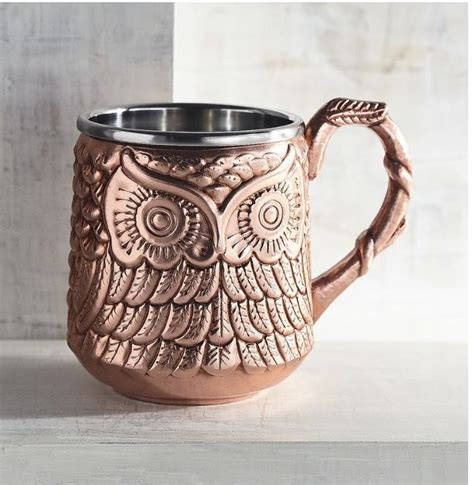 Bad owl coffee is a top merchant due to its average rating of 4.5 stars or higher based on a minimum of 400 ratings. Pier1 Owl Moscow Mule cup   ☕️ ⌚️ Coffee Time!   Moscow mule mugs, Owl mug, Mugs