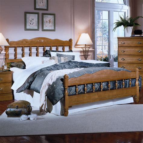 Spindle Headboard And Footboard carolina oak collection bed with spindle headboard and