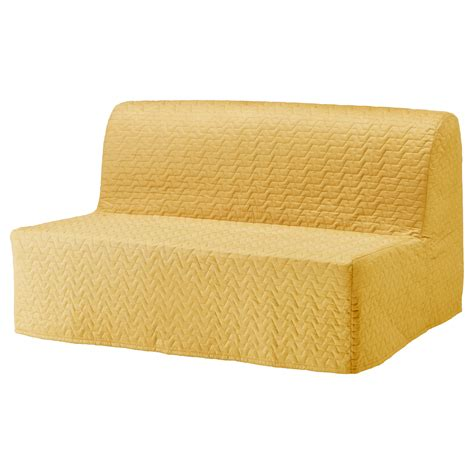 lycksele chair bed cover lycksele two seat sofa bed cover vallarum yellow ikea