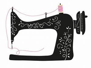 Sewing Machine clipart transparent - Pencil and in color ...