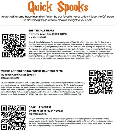 scan  qr codes   school library