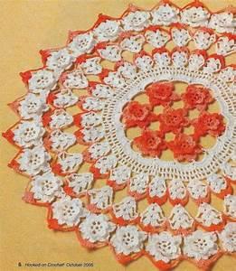 Autumn Roses Doily 12 1  4 U0026quot  Digest Size Crochet Pattern