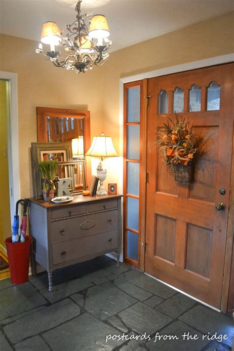 Entry Decor - 1960 s updated ranch style home tour debbiedoos