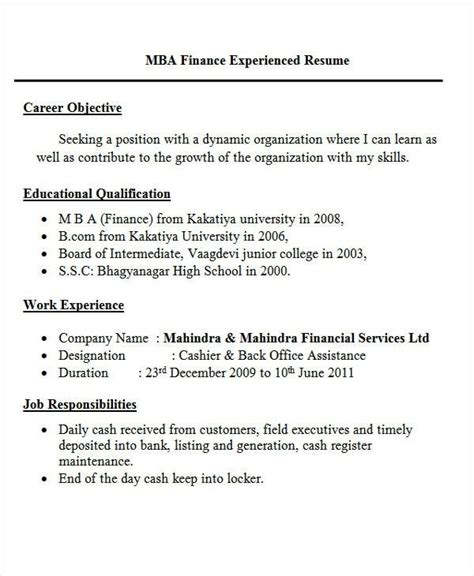 Resume Of Fresher by Resume Templates Fresher Flowersheet