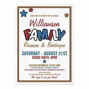 """Fun Family Reunion Invitations 5"""" X 7"""" Invitation Card ..."""
