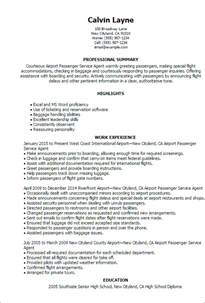 passenger service resume objective professional airport passenger service templates to showcase your talent myperfectresume