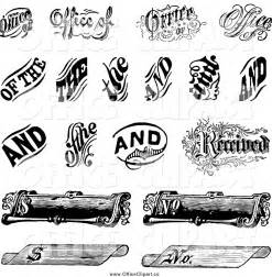 Free Scroll Vector Clip Art Black and White