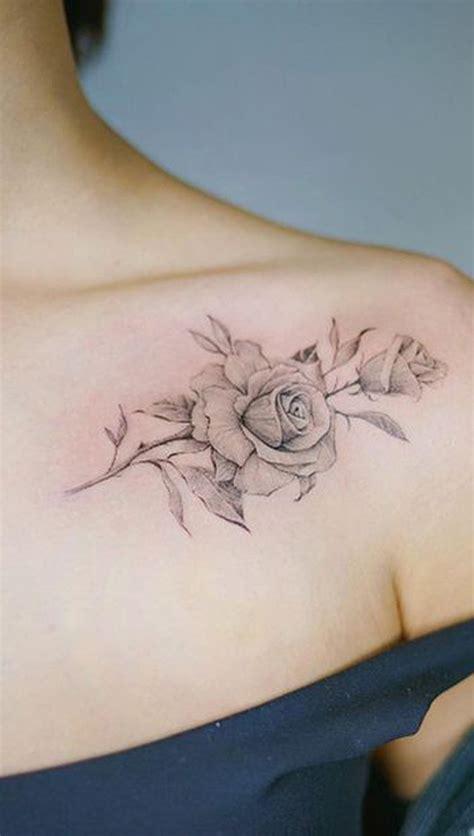 simple rose tattoo  shoulder mybodiartcom