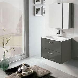 Meuble Tiroir Salle De Bain : meuble salle de bain 60 cm 2 tiroirs play ~ Teatrodelosmanantiales.com Idées de Décoration