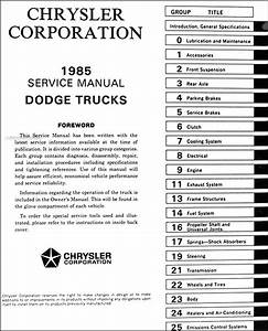 1985 Dodge Pickup Truck  U0026 Ramcharger Repair Shop Manual Original