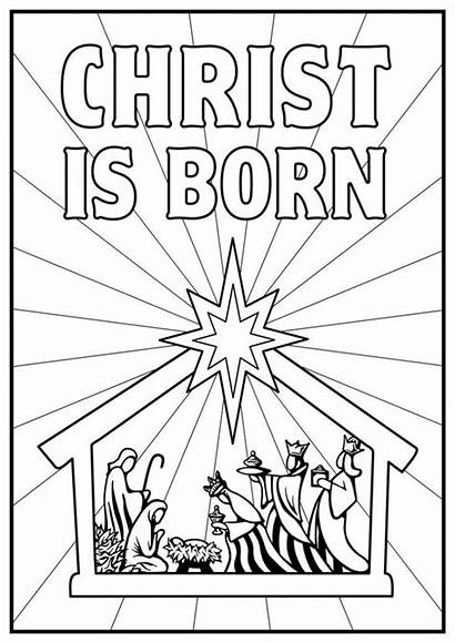 Coloring Nativity Sheet Pages Printable Christ Born