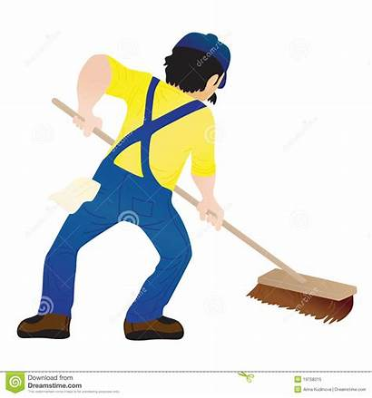 Floor Mop Cleaning Mopping Vector Holding Royalty