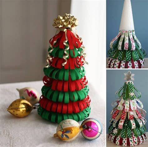 alternative christmas tree styrofoam cone ribbon pins