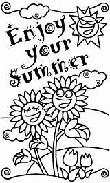 Coloring Summer Pages Crayola Enjoy Printable Colouring Fun Printables Nice Happy Summertime Adults Worksheets Holiday sketch template