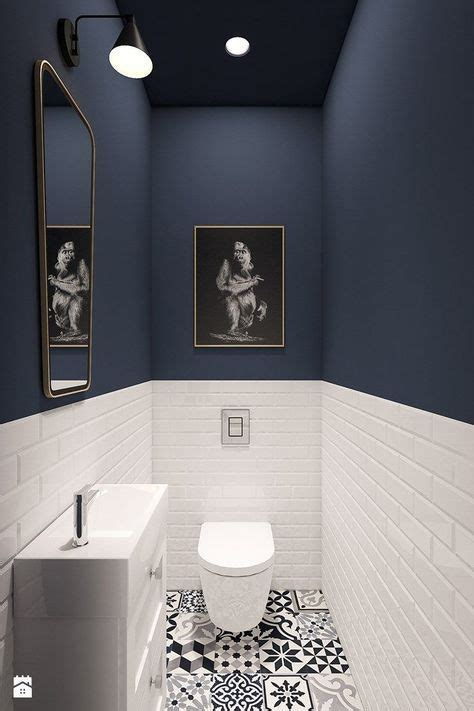 home decorating ideas bathroom guest wc floor patterned