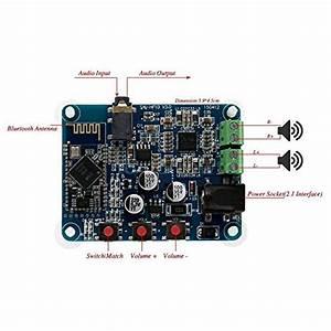 10w 10w 2x10w Dc 12v Bluetooth 4 0 Pam8610 Audio Receiver