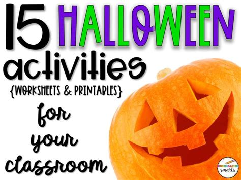 halloween activities worksheets  printables