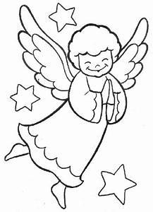 Desenhos de anjos para o natal Painel Criativo