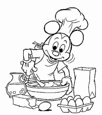 Coloring Cooking Pages Baking Koken Kleurplaat Kleurplaten