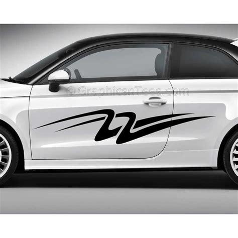 custom car stickers vinyl graphic side stripe decals swooshes