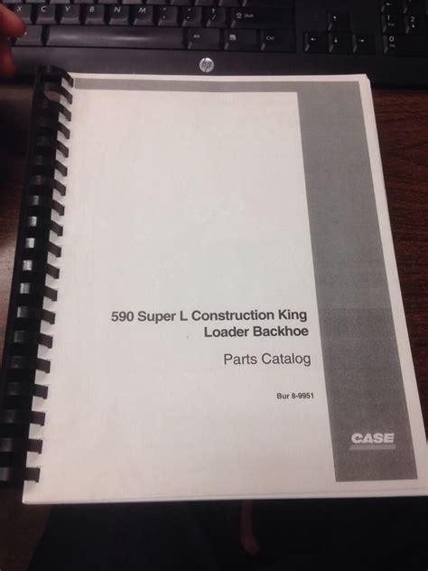 case  super  sl loader backhoe parts manual book