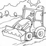 Digger Jcb Colouring Coloring Pages Print Printable Colour Cartoon Tractor Truck Template Boys Trucks Searches Recent sketch template
