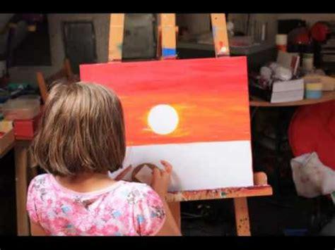 malerei von celine zapp landschaft sonnenuntergang
