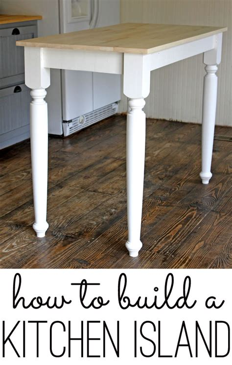 how do you build a kitchen island diy home walls floors more the shabby creek cottage